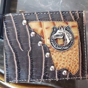 Western Silver studded wallet